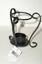YANKEE CANDLE Iron Table Top Oil Warmer Stand BLACK New Tags Home Decor Lighting