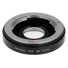 Fotodiox Pro Lens Mount Adapter Minolta MD/MC Lens to Sony Alpha A-Mount Came...