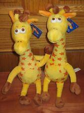 "NEW LOT of 2 Geoffrey Giraffe The Toys R Us 13"" Plush Stuffed Mascot - Geffory"