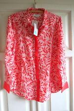 BNWT Boden The Silk Shirt Top UK 20 (US 16 EU 46 48) Chalky Pink & Red