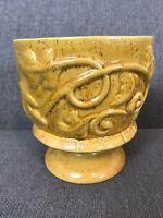 Vintage Yellow HAEGER USA Pottery Flower Pot Planter Vase Retro Decor MCM