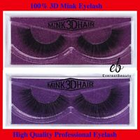 💙3D 100% Mink Natural Thick Fake Eyelashes handmade Lashes Makeup Extension
