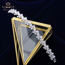 Simple Butterfly Zircon Wedding Tiaras Crowns Headband Bridal Hair Accessory