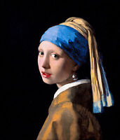 Johannes Vermeer - Girl with a Pearl Earring, Museum Art Poster, Canvas Print
