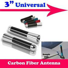 "3"" Stubby Carbon Fiber Aluminum Short Antenna Silver Screws For Ford Auto Car"