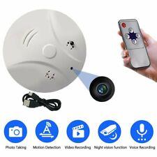 HD Spy Camera Video Recorder Surveillance DVR Smoke Detector Motion Detection