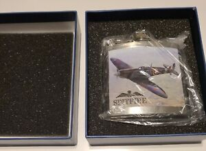Royal Air Force - 5oz Spitfire Hip Flask In Gift Box - Brand New