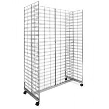 Gridmesh H Base stand wire grid mesh display, metal slatwall panel White