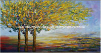 ZWPT1520 100% hand painted oil painting fine landscape tree art on Canvas