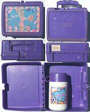 Vtg 1996 Barbie Cheerleader Plastic School Girls Lunch Box with RARE Thermos !