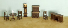 "Miniature Dollhouse FAIRY GARDEN Furniture ~ ¼"" Micro Mini 8 Pce Dining Room Set"
