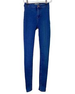 NEW LOOK medium blue HALLIE disco high waisted skinny stretch jeans 6