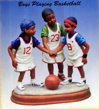 2004 Young's Inc Treasures of the Heart #13823 Boys Playing Basketball