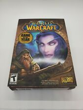 World of Warcraft Game of the Year Blizz 00006000 ard Pc Game 5 Disc Set 2004 Original Box