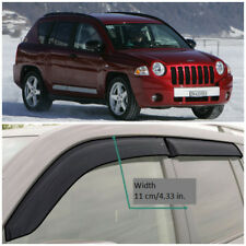 JE11406 Window Visors Guard Vent Wide Deflectors For Jeep Compass MK 2006-2010