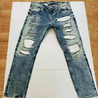 Mens Jordan Craig Straight Legacy Edition Aaron Moto Stretch Jeans 38X31 (38X32)