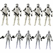 "Lot 2-10 Star Wars 3.75"" Stormtroopers OTC Trilogy & No.5 Clone Trooper Figures"
