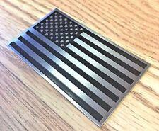"""American Flag 3D Aluminum Emblem non Decal Sticker trucks cars racing tag 2x3.5"""""""