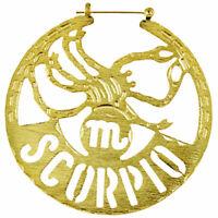 Horoscope Zodiac Hoop Earrings