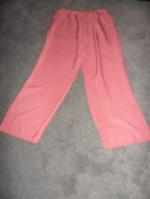 Country Casuals deep pink trousers size 14 side fastening