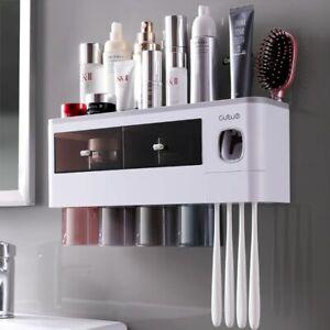 Toothbrush Holder For Bathroom Household Auto Toothpaste Squeezer Storage Shelf