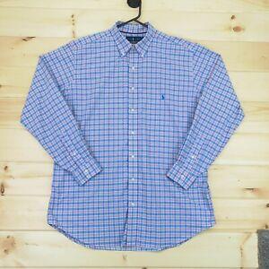 Ralph Lauren Performance Button Up Shirt Mens Extra Large Tall Long Sleeve Blue