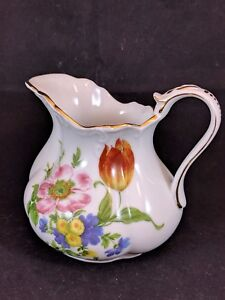 Authentic Royal Danube Porcelain Gold Trimmed Small Pitcher Creamer