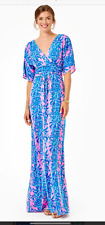 LILLY PULITZER XL NWT PARIGI MAXI DRESS Dilly Dally New in Package $228