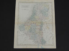 Antique Maps, Samuel Butler c.1863 #08 Holland and Belgium