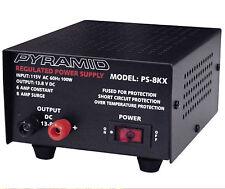 PS8KX Pyramid / 8 Amp 13.8-Volt Power Supply