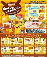 Re-Ment Miniature PokeMon Welcome to Pikachu Room Full Set of 8 pcs