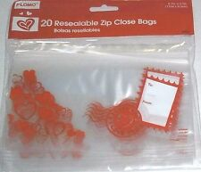 Valentine's Day  RESEALABLE ZIP CLOSE BAGS     20 ct  I LOVE YOU