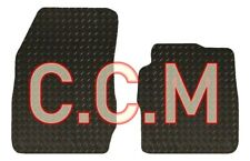 Ford Transit Courier Fully Tailored Van Floor Mats Black Checker Rubber 2014+