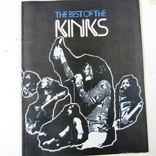 songbook THE KINKS the best of , 1975, vocal - piano