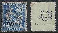 French Office in Levant Perfin CL (monogram) Credit Lyonnaise, Scott 34, VF