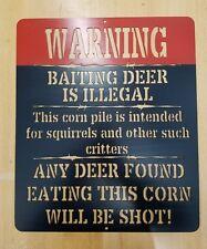 Deer Warning Sign metal wall art plasma cut gift