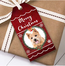 Norwich Terrier Dog Christmas Gift Tags (Present Favor Labels)