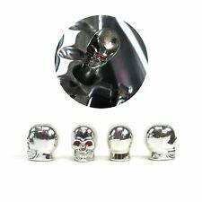 Set of 4 Chrome Skull Valve Caps VPAVC01 vintage parts usa custom hot rod muscle