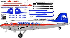 NEW All American Airways Douglas DC-3 pointerdog7 decals for Testors 1//72 scale