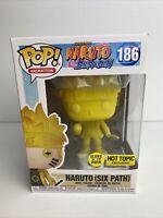 Funko Pop! Naruto Shippuden #186 Naruto Six Path GITD Hot Topic Exclusive