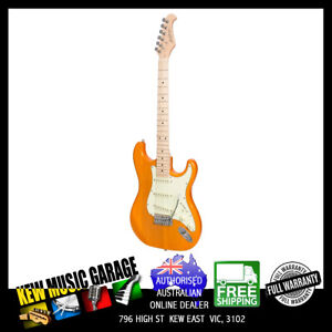 J&D LUTHIERS TRADITIONAL ST-STYLE ELECTRIC GUITAR TRANSPARENT AMBER