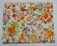Indian Cotton Fabric Running Screen Print Loose Sewing Craft Flower By The Yard