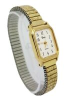 Timex Quartz Ladies Gold Tone Expandable Bracelet Watch A7
