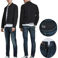 Mens Jack & Jones Glenn Slim Fit Jeans Blue Denim