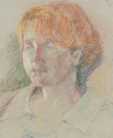 Ann Matthews - 20th Century Pastel, Portrait of a Lady with Red Hair