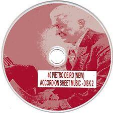 40+ Pietro Deiro (NEW) Accordion Sheet Music - CD#2 of 5