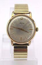 Vintage ALPINA STANDARD Cal. 598E watch Uhr Armbanduhr Gold Optik Herren 60er