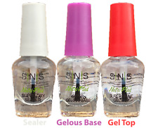 SNS Gel Top Coat Gelous Base Sealer 3x Prebonded Dipping Nail Powder System