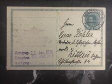 1918 Liberec Austria postal stationery postcard cover to Zittau Germany