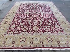 Traditional Hand Made Afghan Oriental Wool Burgundy Zigler Carpet 358x277cm